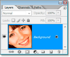 The Layers palette in Photoshop