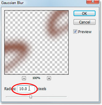 Apply the Gaussian Blur filter to smooth out the makeup