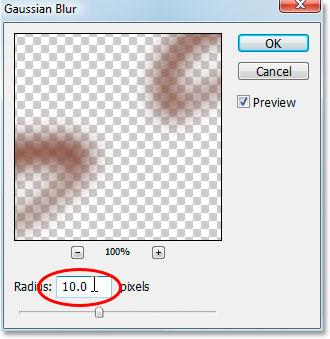 Aplique o filtro Gaussian Blur para suavizar a maquiagem