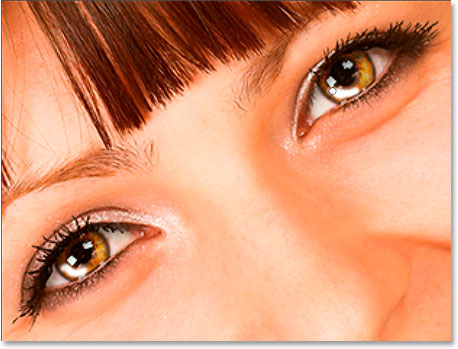 Paint with white in the left of each iris to add a highlight