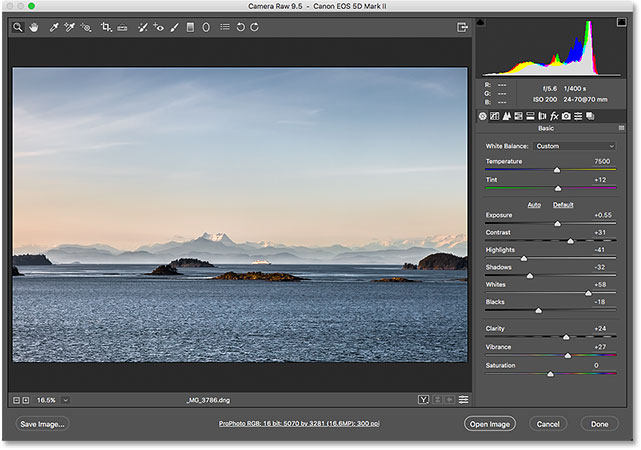 The Adobe Camera Raw plugin. Image © 2016 Photoshop Essentials.com
