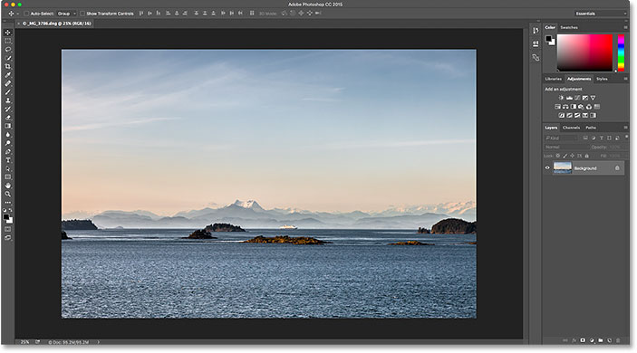 The same image has been moved from Lightroom CC to Photoshop CC. Image © 2016 Photoshop Essentials.com
