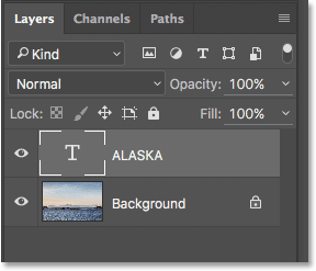 The Layers panel in Photoshop. Image © 2016 Photoshop Essentials.com