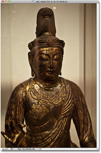 A photo of a chinese scultupe taken in the Royal Ontario Museum. Image © 2010 Photoshop Essentials.com