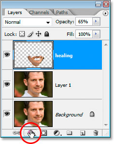 Clicking the Layer Styles icon at the bottom of Photoshop's Layers palette
