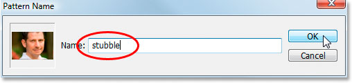 Photoshop's Pattern Name dialog box