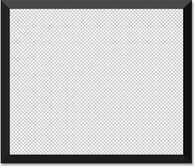 the frame layer after deleting the white area in the center image 2014 photoshop