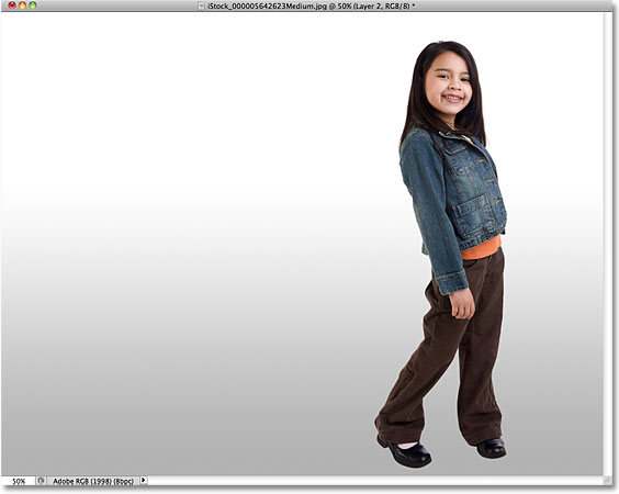 The new light gray to white background. Image © 2010 Photoshop Essentials.com.