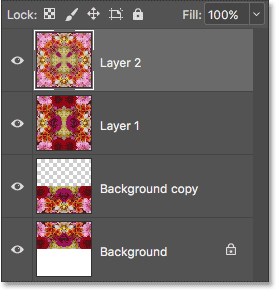All three layers are now merged onto Layer 2.