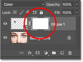 A layer mask thumbnail appears on the Shape layer. Image © 2016 Photoshop Essentials.com.