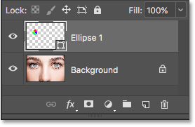 The Layers panel showing the new Shape layer. Image © 2016 Photoshop Essentials.com.