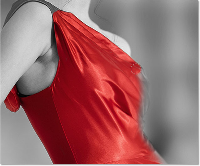 Red dress effect key