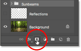 Clicking the Layer Mask icon.