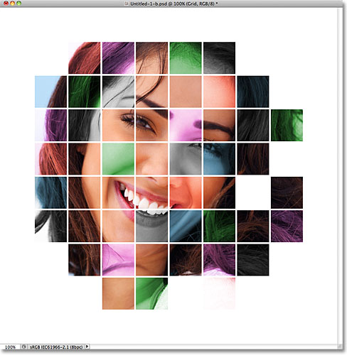 Photoshop Colorized Grid Design Effect. Image © 2011 Photoshop Essentials.com.