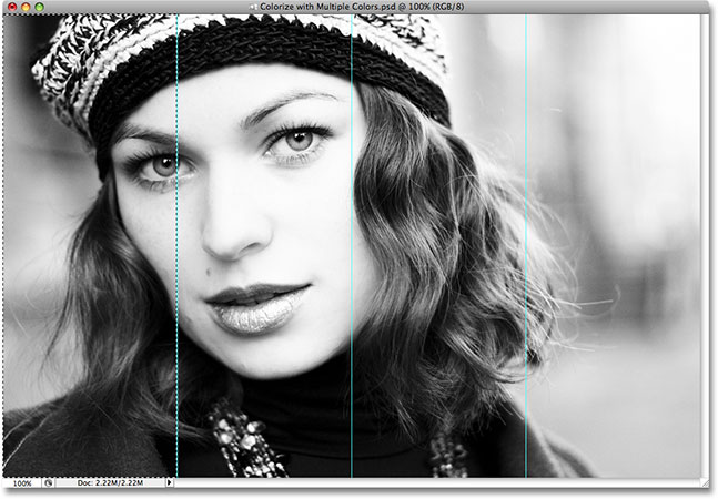 The first section is now selected. Image © 2008 Photoshop Essentials.com.