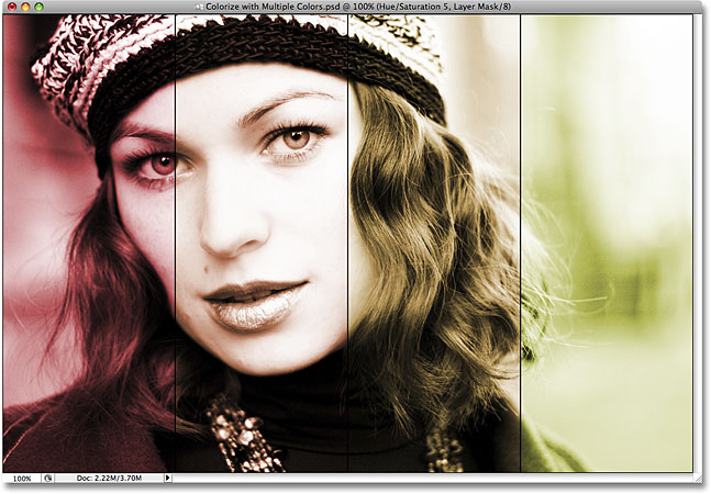 Photoshop colorize effect. Image &copy: 2008 Photoshop Essentials.com.