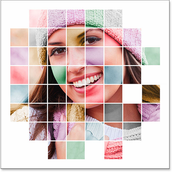 A colorized grid photo display created in Photoshop.