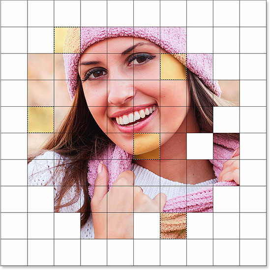 Selecting other squares in the grid.