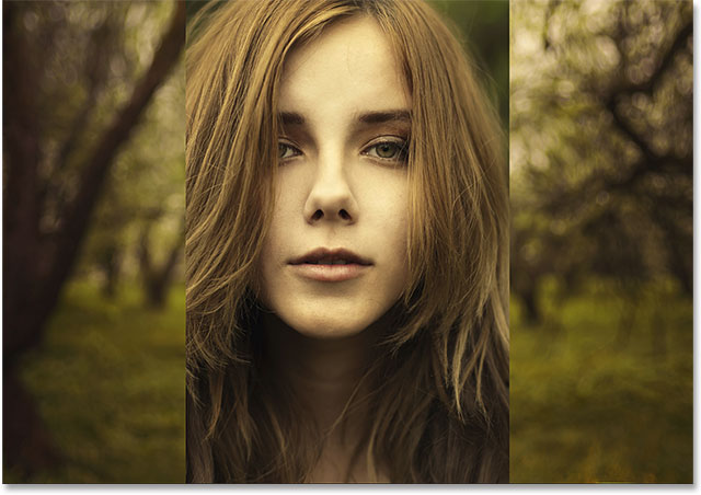Both photos are now in the same document. Image © 2014 Photoshop Essentials.com