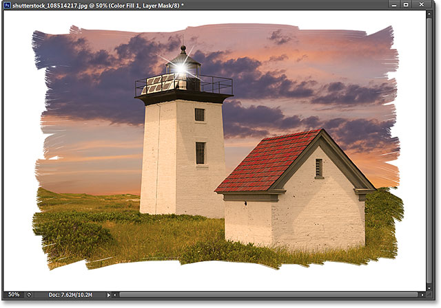 The Foreground and Background color swatches in the Tools panel. Image © 2013 Photoshop Essentials.com