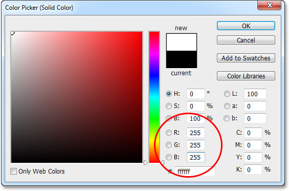 Selecting a Solid Color fill layer in the Layers panel. Image © 2013 Photoshop Essentials.com