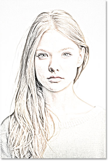 Photoshop Photo Line Art Effect : Portrait photo to pencil sketch with photoshop cs tutorial