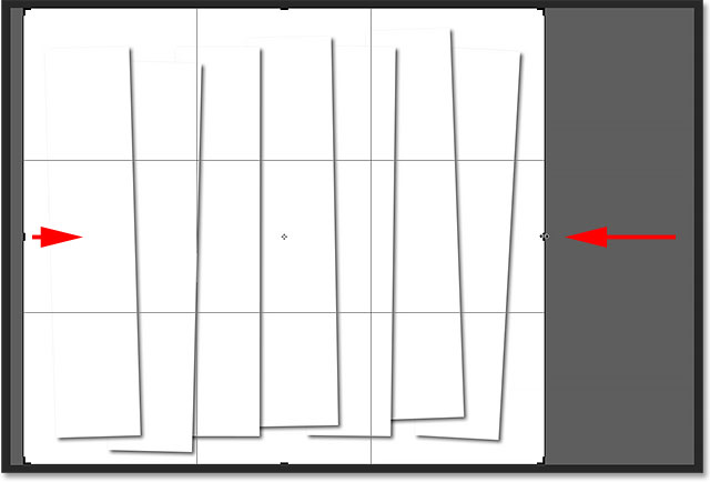 Resizing the cropping box around the panels