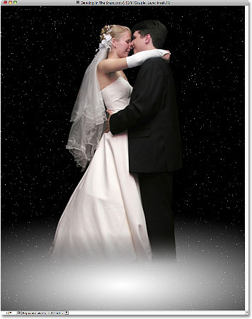 The couple is now blended into the galaxy. Image © 2010 Photoshop Essentials.com.