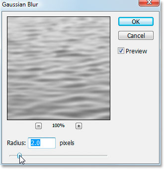 Photoshop's Gaussian Blur filter