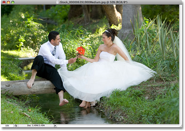 A wedding photo. Image licensed from iStockphoto by Photoshop Essentials.com.