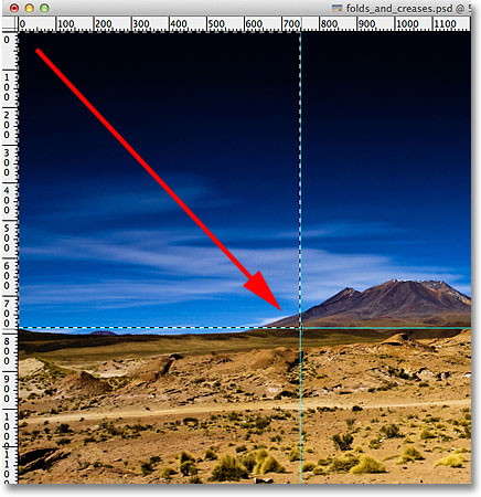 Drawing a rectangular selection around the top left section. Image © 2011 Photoshop Essentials.com