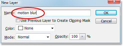 Naming my new layer