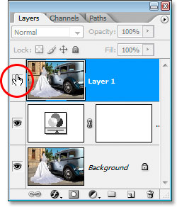 Click the Layer Visibility icon