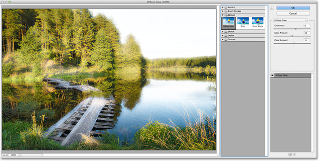 The Filter Gallery in Photoshop CS6. Image © 2012 Photoshop Essentials.com.