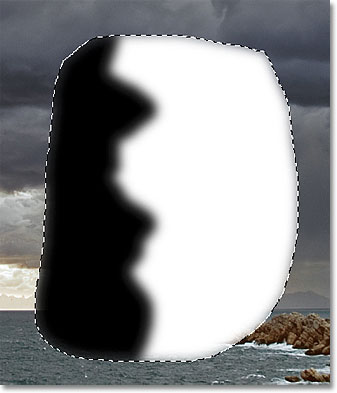 The black stroke now with soft edges. Image © 2011 Photoshop Essentials.com.