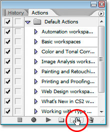 Photoshop's Actions palette