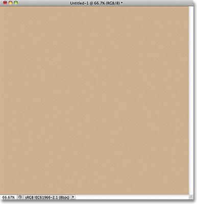 Photoshop document filled with light brown. Image © 2011 Photoshop Essentials.com.