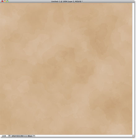 Subtle stains appear on the old paper. Image © 2011 Photoshop Essentials.com.
