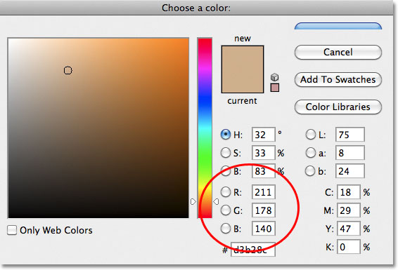 Photoshop Color Picker. Image © 2011 Photoshop Essentials.com.