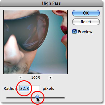 The High Pass filter in Photoshop. Image © 2008 Photoshop Essentials.com.