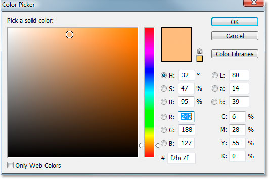 Photoshop's Color Picker.