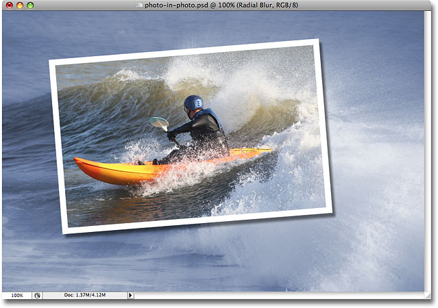 The final 'photo in photo' effect. Image © 2008 Photoshop Essentials.com.