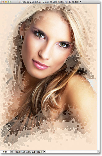 Photoshop pixel photo effect. Image © 2011 Photoshop Essentials.