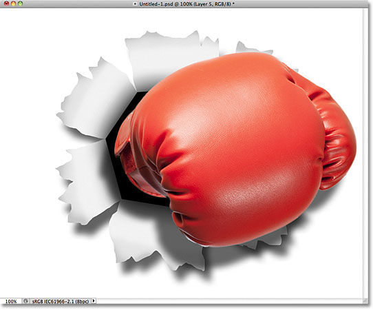 The boxing glove shadow. Image © 2011 Photoshop Essentials.com.