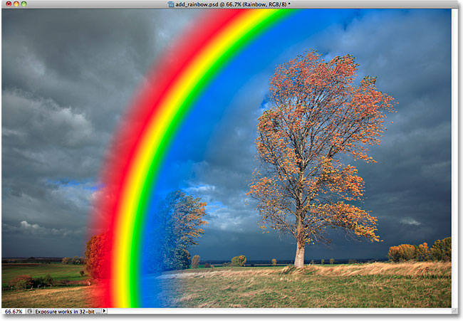 Photoshop rainbow gradient.