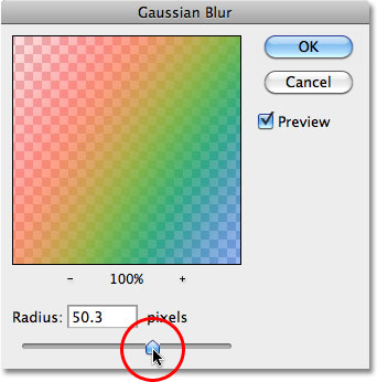 Photoshop Gaussian Blur filter. Image © 2010 Photoshop Essentials.com.
