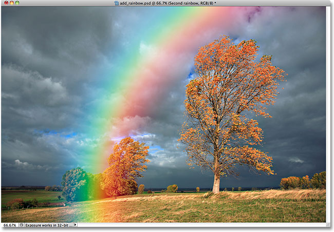 The second rainbow after blurring it. Image © 2010 Photoshop Essentials.com