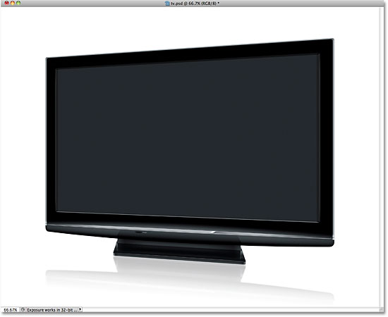 Television screen. Image © 2010 Photoshop Essentials.com.