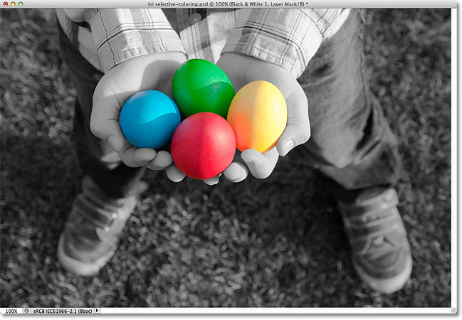 Photoshop selective color. Image © 2012 Photoshop Essentials.com