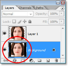 Photoshop's Layers palette.